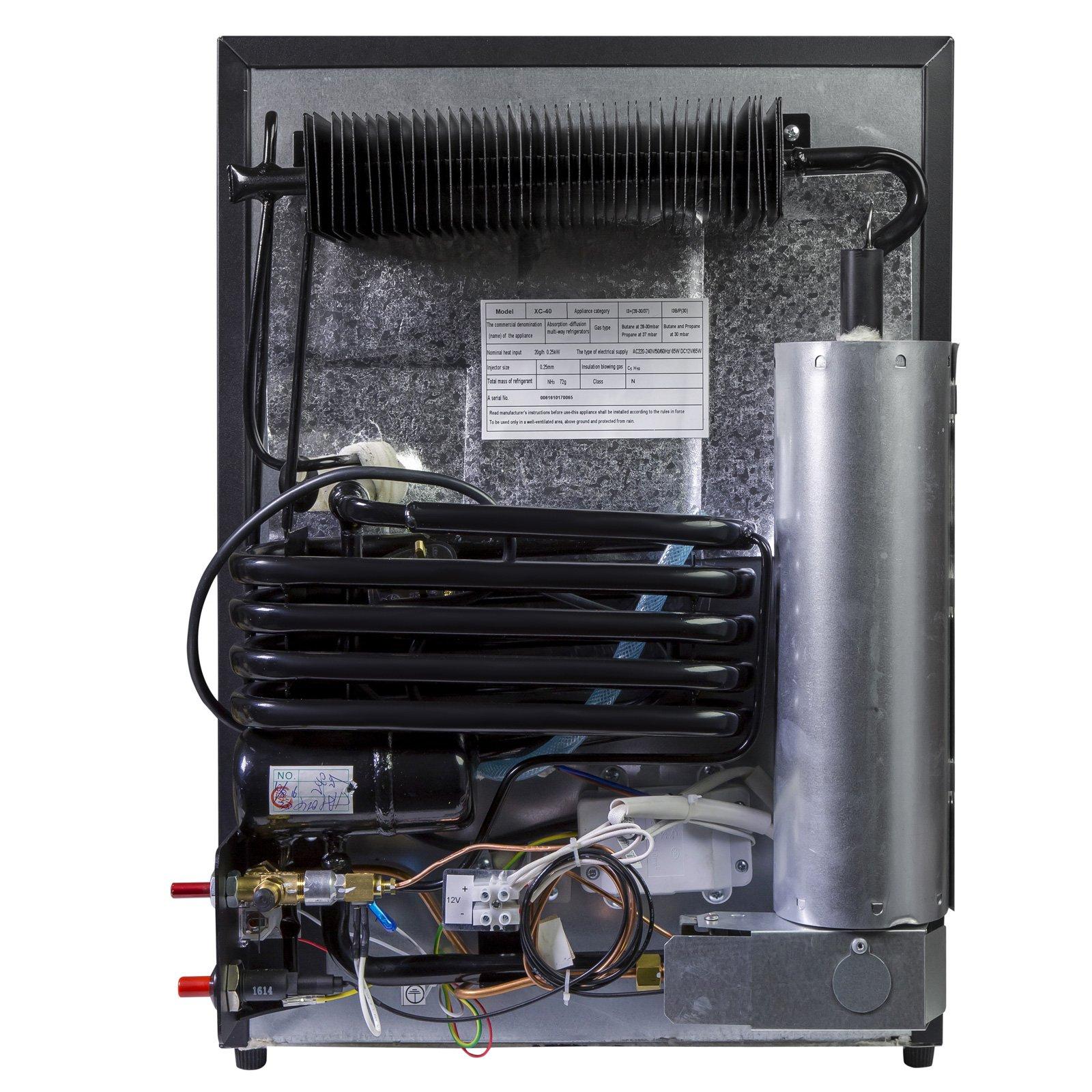iceQ 40 Litre 3 Way UK Mains, 12v & Gas, Absorption Caravan and Motorhome  Fridge Black
