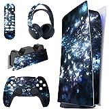 playvital Fjäril illusion komplett set skinn dekal för PS5-konsol digital upplaga, klistermärke vinyl dekal skydd för Playsta