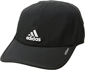 Adidas Men'S Adizero Cap, Black/Aluminum, One Size Fits All