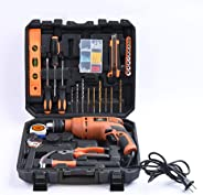 JK Super Drive 13RE Professional Tool Kit, MS and Plastic (Orange, Pack of 98)
