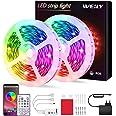 Ruban LED 10M Intelligent Bluetooth,WEILY10M Led Ruban Intelligent Music Sync Bande de lumière LED RGB à changement de couleu