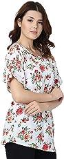 Modish Vogue Women's Floral/PrintedWhite Colored Top
