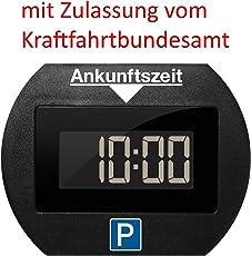Needit Park Lite elektronische Parkscheibe digitale Parkuhr schwarz mit offizieller Zulassung vom KBA