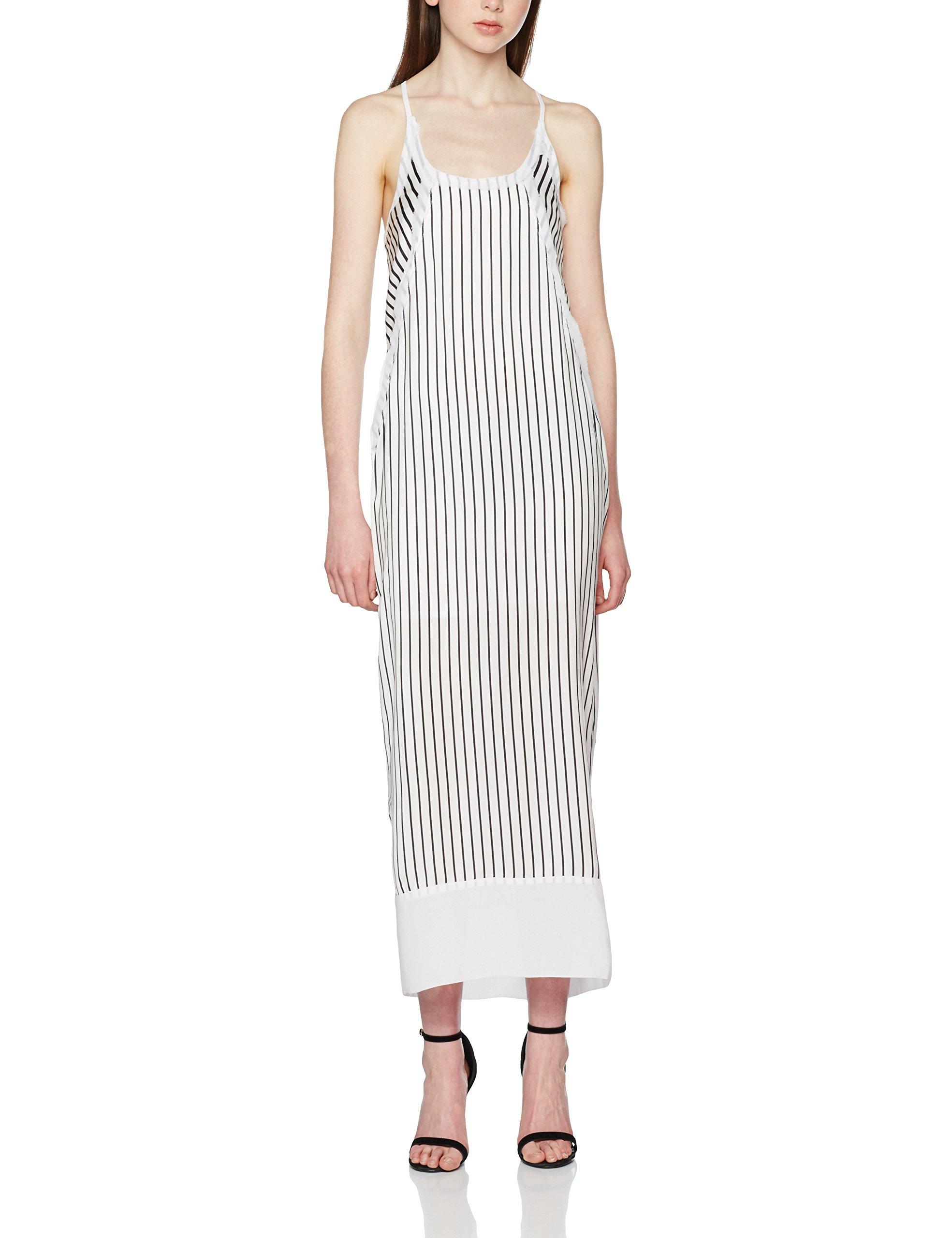 Calvin Klein Devon Stripe Strappy SL Maxi Dress Vestido para Mujer