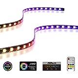 EZDIY-FAB Tiras de LED RGB direccionables con imán para la Caja de la computadora de la PC, con Control Remoto (Compatible co