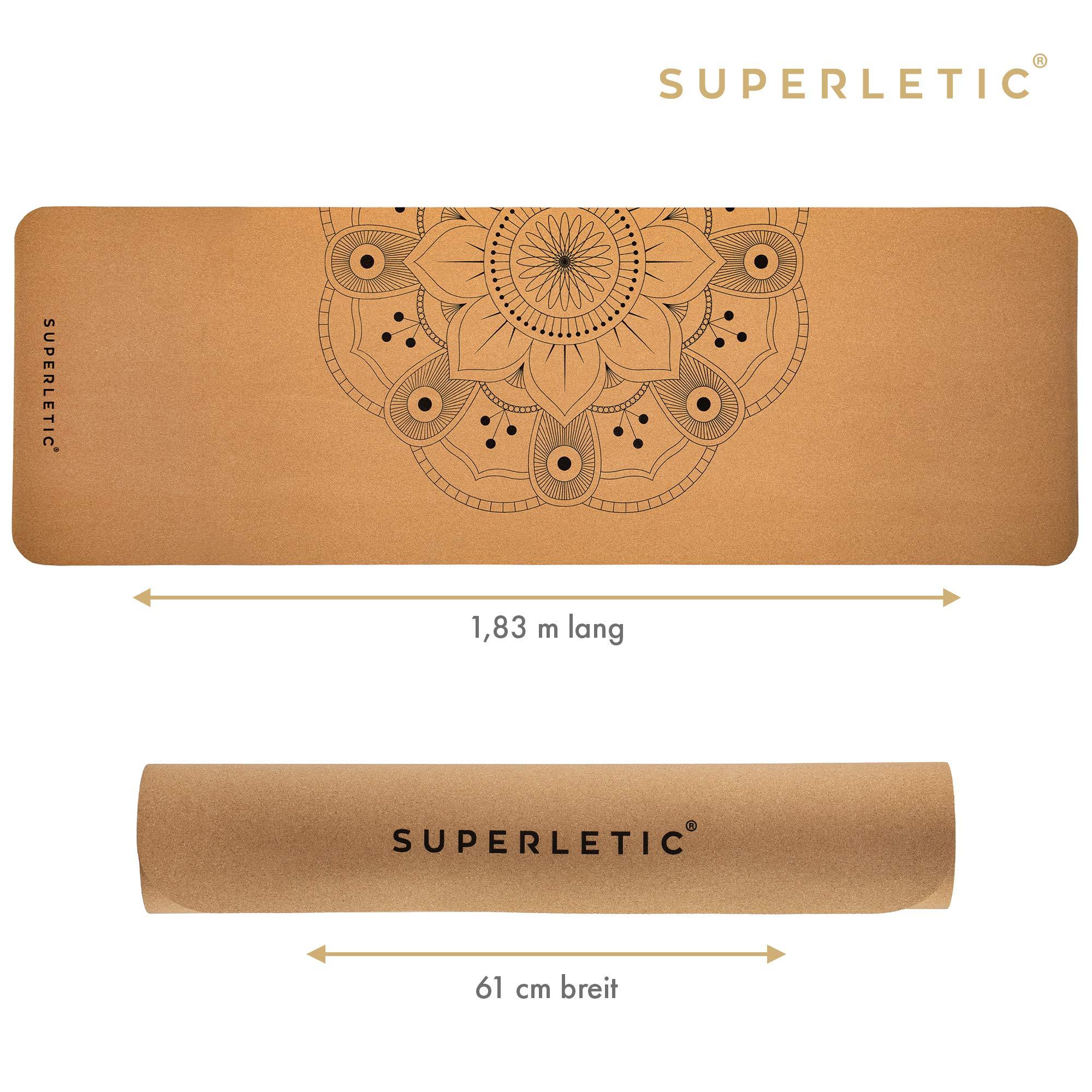 5 mm stark Anti-allergisch SUPERLETIC Yoga-Matte Professional aus TPE 100/% biologisch abbaubar rutschfest 183 x 61 cm schadstofffrei mit Trage-Gurt