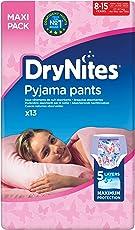 Huggies DryNites hochabsorbierende Pyjamahosen Unterhosen für Mädchen Jumbo Monatspackung, 52 Stück (8-15 Jahre)