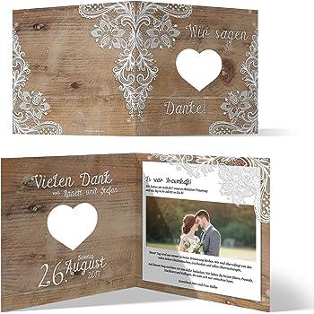 Lasergeschnittene Hochzeit Danksagungskarten 20 Stuck Rustikal