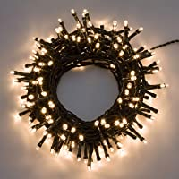 XMASKING Catena 12,5 m, 300 LED Bianco Caldo, con Giochi di Luce, Cavo Verde, luci per L'Albero di Natale, luci Natalizie
