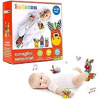LUDAZON Sonaglini Sensoriali per lo sviluppo delle capacità intellettive, Giochi Neonato Montessori, Sonaglio in Morbido…