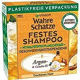 Garnier Festes Shampoo mit Argan- & Camelia-Öl pflegt trockenes Haar geschmeidig & verleiht Glanz, mit plastikfreier Verpacku