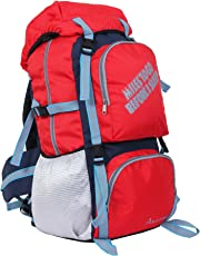 "POLE STAR "" ROCKY "" 60 Lt Red Rucksack I Hiking backpack"