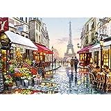 CofunKool 1000 Pièces Jigsaw Puzzle pour Adultes (Paris Rue Tour Eiffel)