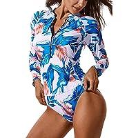 FITTOO Costume Surf Donna Abbigliamento Surf Costume da Bagno Sexy Tankini per Sport Acquatici Snorkeling