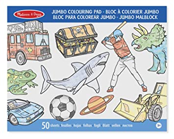 Melissa & Doug Blue Colouring Pad: Amazon.co.uk: Toys & Games