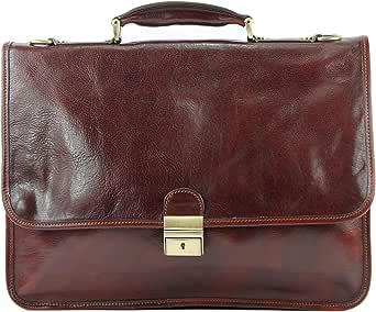modamoda de - A003 - ital. Business Laptop Akten Tasche Leder