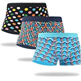 WeciBor Men's Underwear Trunks Cotton Boxers Colorful Pattern Funny Comfort Soft Shorts Gift Multipack