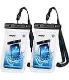 Mpow Wasserdichte Handyhülle 2 Stück, DOPPELT VERSIEGELT, Handytasche Wasserdicht, Staubdicht für iPhone X/XR/XS/XS MAX/8/7/6/6s/6splus/Galaxy S9/S8/S7/S7edge/S6/S bis 6, 5 Zoll