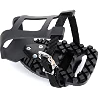 Venzo Compatible with Peloton Bike and Bike+ Pedal Toe Clips Cage - Indoor Exercise Spin Bike Pedal Adapters -Convert…