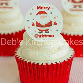 15 Pre-Cut Edible Icing Xmas Snowman Christmas Cupcake Cake Icing Toppers