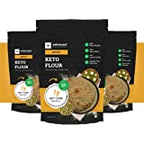 Ketofy - Keto Flour (Pack of 3x750g) | Healthiest Low Carb Flour | 1g Net Carb Per Roti | Gluten Free | Ultra Low Glycemic