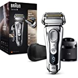 Braun Series 9 9395cc Afeitadora Eléctrica Hombre Última Generación: Afeitadora Barba con Estación Limpieza y Carga Clean&Cha