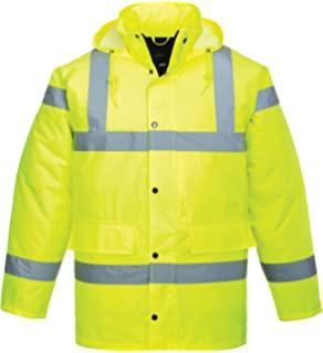 Size Small Portwest S464YERS Contrast Plus Bomber Jacket Yellow Regular