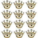 BESTOYARD 12 Pezzi Corona Spilla Pin Moda Diamante Festa Nuziale Spettacolo Tiara Corona Corpetto per Matrimonio Forniture pe