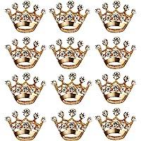 BESTOYARD 12 Pezzi Corona Spilla Pin Moda Diamante Festa Nuziale Spettacolo Tiara Corona Corpetto per Matrimonio…