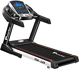 Powermax Fitness TDA-125 (2.0 Hp) Motorized Smart Treadmill with Auto Inclination and Auto Lubrication