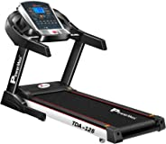 Powermax Fitness TDA-125 (2.0 HP), Smart Run Function, Auto Lubrication & Auto Inclination Motorized Treadmill for Cardio Wo