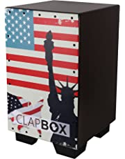 Clapbox Graphic Cajon -Brown, American Maple (H:50 W:30 L:30) - 3 Internal Snares