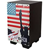 Clapbox CB-62 Graphic Cajon -Brown, American Maple (H:50 W:30 L:30) - 3 Internal Snares