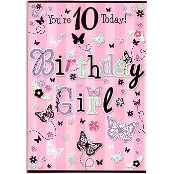 Birthday Card For Ten 10 Year Old Girl