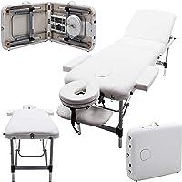 Table de massage pro luxe - Massage Imperial - Portable Mayfair - Aluminium - Plateau 3 Pièces - Couleur : Ivoire Blanc