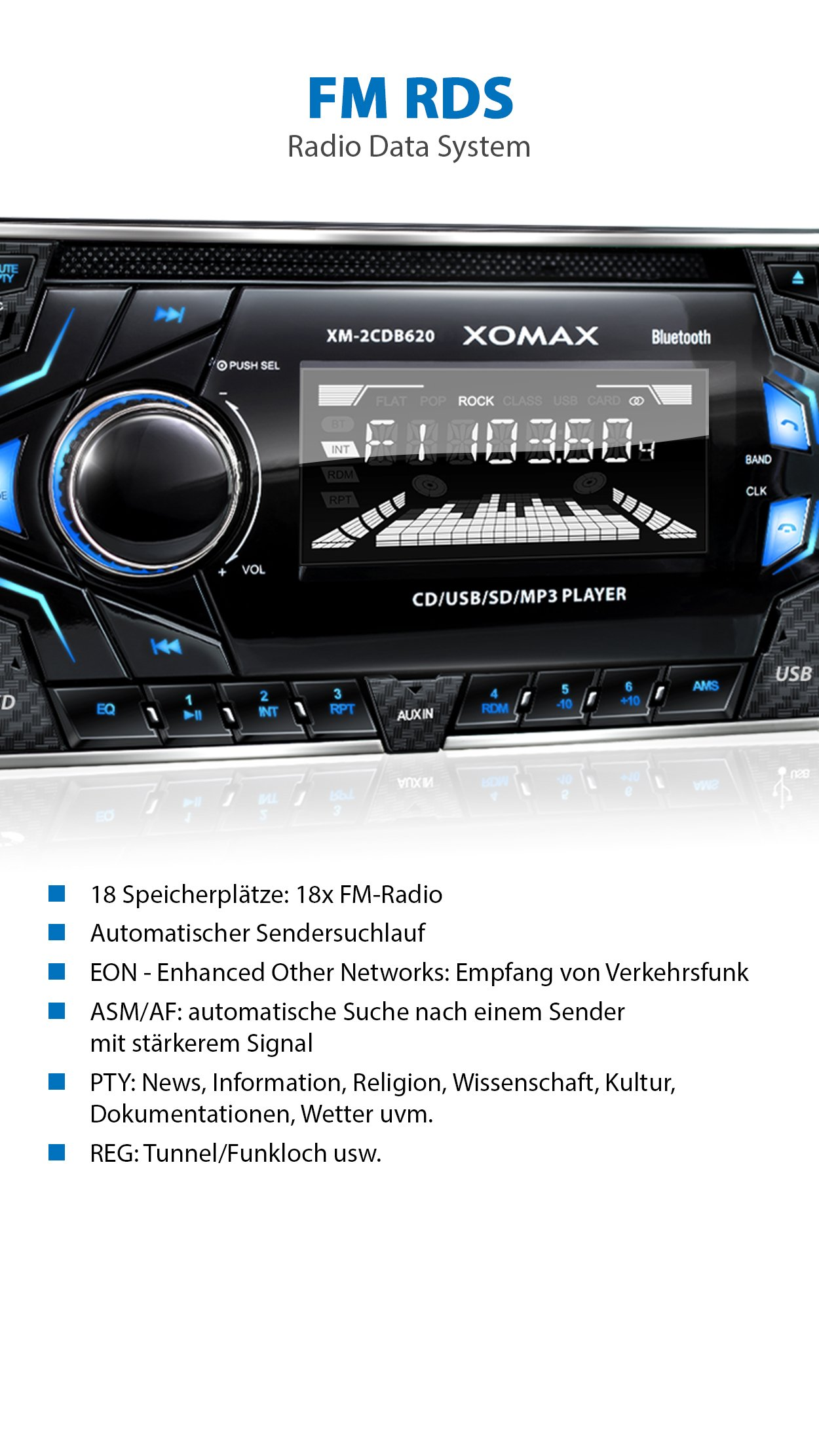Xo Vision Xd103 Fm Radio And Stereo Receiver With Usb Port Sd Card Slot