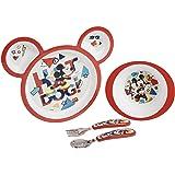 مجموعة اطعام بتصميم ميكي ماوس ديزني للاطفال من ذا فيرست ييرز، 4 قطع