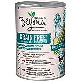 Purina Beyond Umido Cane Grain Free Bocconi in Patè con Tacchino e Zucchine, 12 Lattine da 400 g Ciascuna, Confezione da 12 x