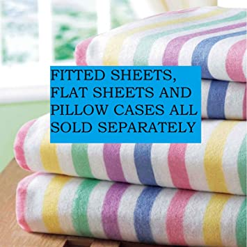 Bedding Heaven Super Soft Flannelette Sheet Set - Candy Stripe ...