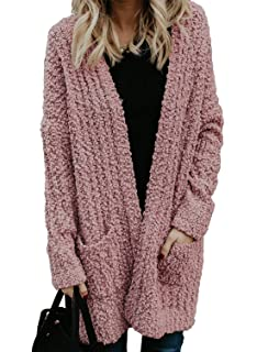 Xpose Ladies Women's Cable Knit Wool Open Long Sleeved
