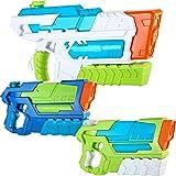 JOYIN 2 Pistole ad Acqua Potenti Bambini Adulti e 1 Fucile ad Acqua Grande Giardino ad Alta capacità Super Water Gun Giocatto