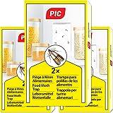 PIC Piéges à Mites Alimentaires Paquet Triple = 6pièges Anti Mites - Piège à phéromones pour la Cuisine et Les magasins - Ant