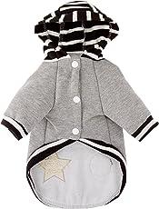 SMALLLEE_Lucky_Store Soft Cotton Stripes Sweater, Grey, Medium