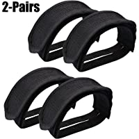 Fansport 2 Pair Pedal Straps Adjustable Bicycle Feet Straps for Fixed Gear Bike