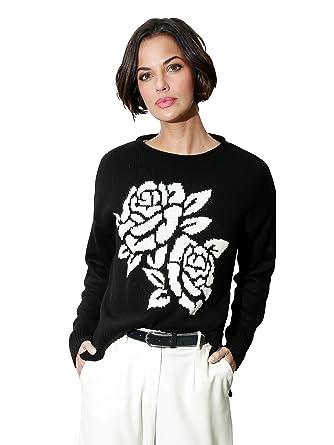 533a52788a09 Damen Pullover mit Blumenintarsie by AMY VERMONT  Amazon.de  Bekleidung