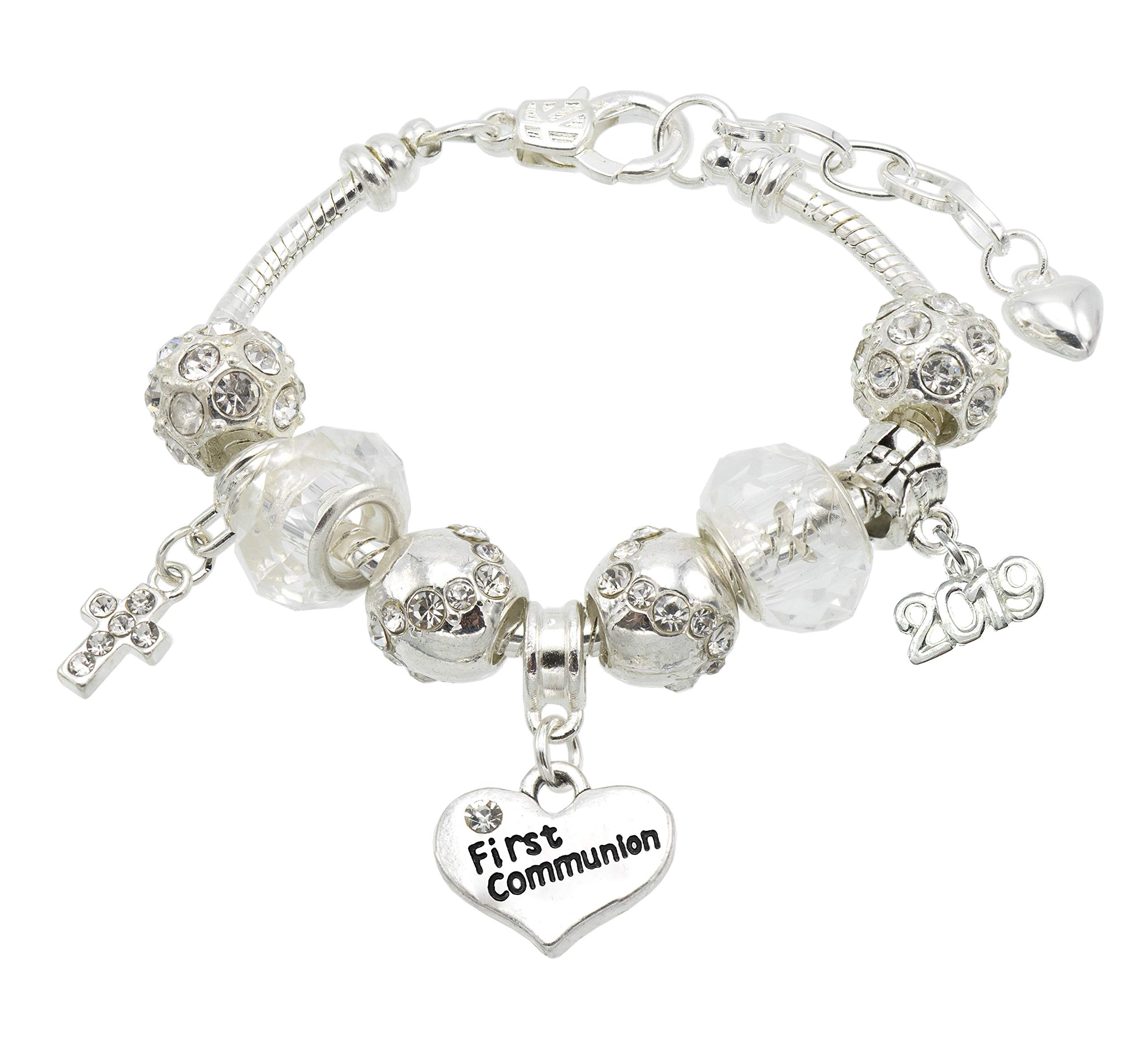 Jewellery Hut First Holy Communion 'Sparkle' Bracelet with Gift Box