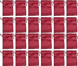 24 Jute-Säckchen fein, rot, 20 x 12 cm, Advent