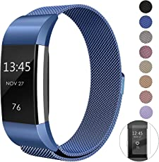 super vaule Für Fitbit Charge 2 Armband, Milanese Fitbit Charge2 Armbänder Band (Schwarz+Colorful, S)