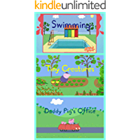 Storybook Collection: Swimming, Tiny Creatures and Daddy Pig's Office - Great Picture Book For Kids