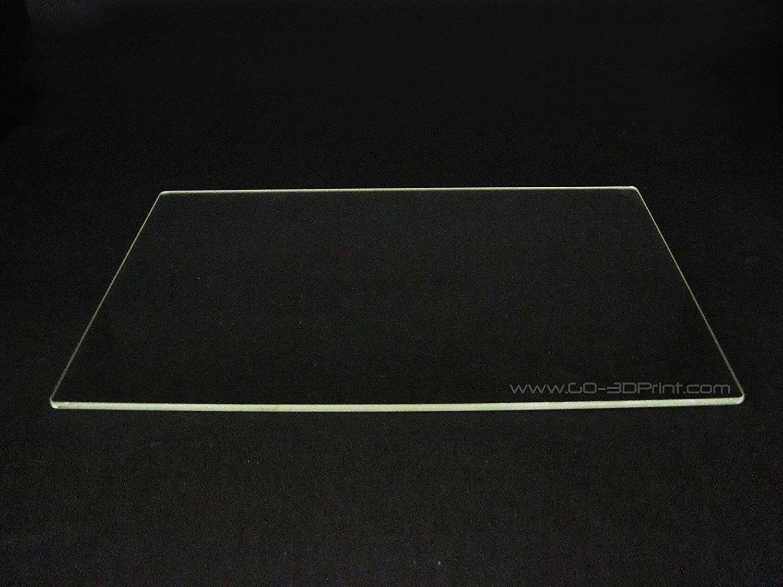 150mm x 230mm Plaque de verre borosilicate/lit W/plat poli Edge pour Flashforge Creator et MakerBot Replicator imprimante 3d